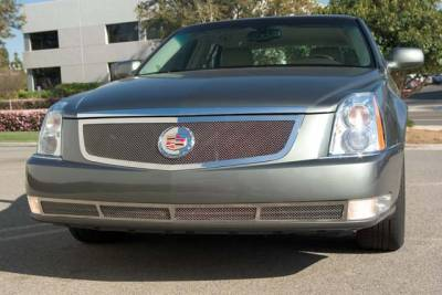 Grilles - Custom Fit Grilles - T-Rex - Cadillac DTS T-Rex Upper Class Polished Stainless Mesh Grille with Recessed Logo Area - 54188