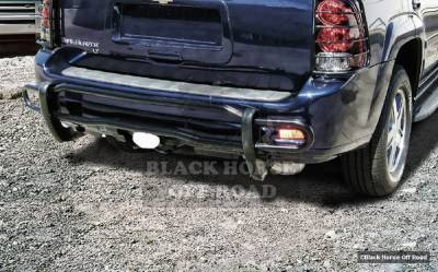 Envoy - Rear Add On - Black Horse - GMC Envoy Black Horse Rear Bumper Guard - Double Tube