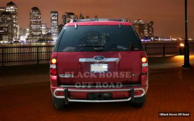 Explorer - Rear Add On - Black Horse - Ford Explorer Black Horse Rear Bumper Guard - Double Tube