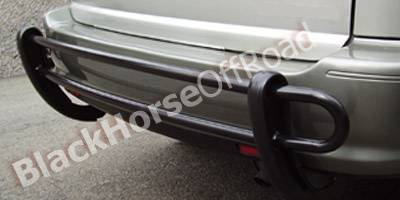 Highlander - Rear Add On - Black Horse - Toyota Highlander Black Horse Rear Bumper Guard - Double Tube