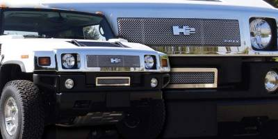 Grilles - Custom Fit Grilles - T-Rex - Hummer H2 T-Rex Upper Class Polished Stainless Mesh Grille - 54295