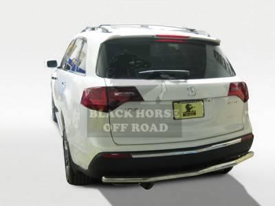 MDX - Rear Add On - Black Horse - Acura MDX Black Horse Rear Bumper Guard - Single Tube