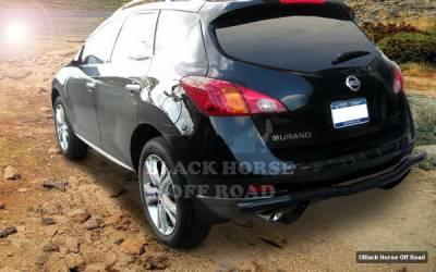Murano - Rear Add On - Black Horse - Nissan Murano Black Horse Rear Bumper Guard - Single Tube