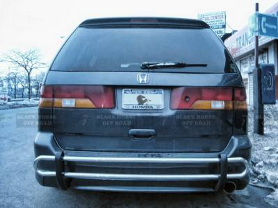 Odyssey - Rear Add On - Black Horse - Honda Odyssey Black Horse Rear Bumper Guard - Double Tube