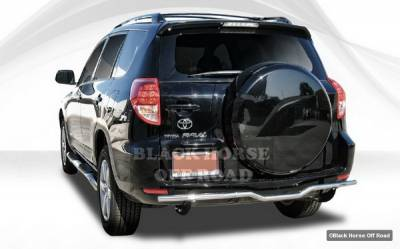 Rav 4 - Rear Add On - Black Horse - Toyota Rav 4 Black Horse Rear Bumper Guard - Single Tube