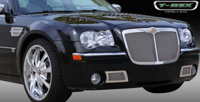 T-Rex. - Chrysler 300 T-Rex Upper Class Polished Stainless Mesh Grille - 54470