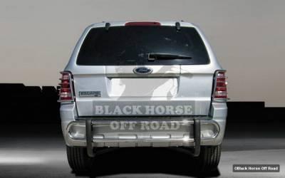 Tribute - Rear Add On - Black Horse - Mazda Tribute Black Horse Rear Bumper Guard - Double Tube