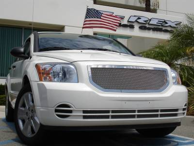 Grilles - Custom Fit Grilles - T-Rex - Dodge Caliber T-Rex Upper Class Polished Stainless Mesh Grille - 1PC - 54477