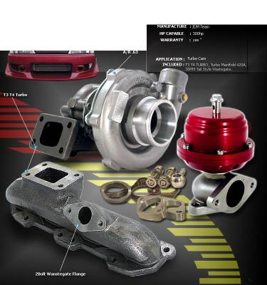 Performance Parts - Turbo Charger Kit - Custom - 95-99 NEON AVENGER 2.0L T3/T4 TURBO