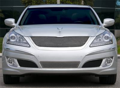Grilles - Custom Fit Grilles - T-Rex - Hyundai Equus T-Rex Upper Class Polished Stainless Mesh Grille with Formed Mesh Center - 54496