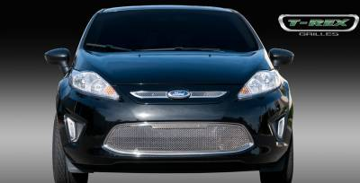 Grilles - Custom Fit Grilles - T-Rex - Ford Fiesta T-Rex Upper Class Polished Stainless Mesh Grille - 2PC - 54588