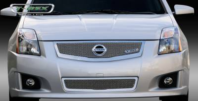 Grilles - Custom Fit Grilles - T-Rex - Nissan Sentra T-Rex Upper Class Mesh Grille with Logo Plate - 54765