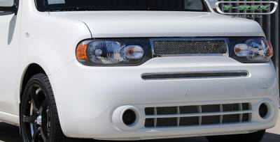 Grilles - Custom Fit Grilles - T-Rex - Nissan Cube T-Rex Upper Class Polished Stainless Mesh Grille - 54772