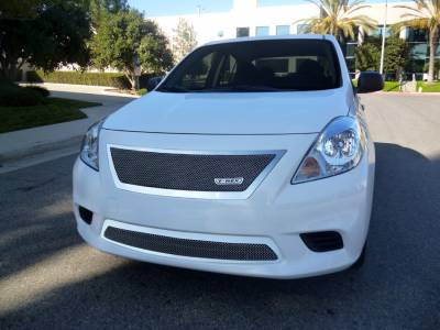 Grilles - Custom Fit Grilles - T-Rex - Nissan Versa T-Rex Upper Class Polished Stainless Mesh Grille - 54776