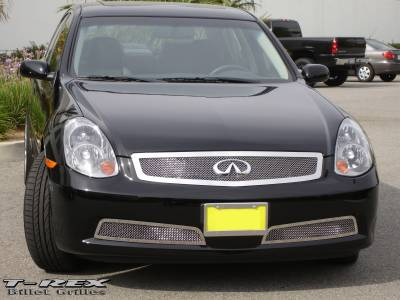 Grilles - Custom Fit Grilles - T-Rex - Infiniti G35 4DR T-Rex Upper Class Polished Stainless Mesh Grille - 54799