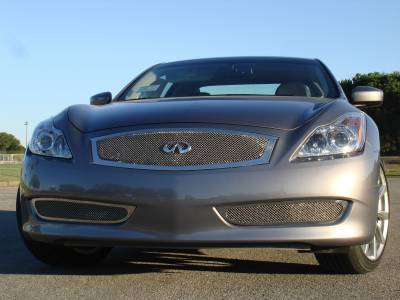 Grilles - Custom Fit Grilles - T-Rex - Infiniti G37 T-Rex Upper Class Polished Stainless Mesh Grille with Formed Mesh Center - 54810