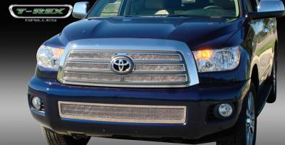 Grilles - Custom Fit Grilles - T-Rex - Toyota Sequoia T-Rex Upper Class Polished Stainless Mesh Grille - 4PC - 54902