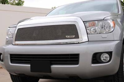 Grilles - Custom Fit Grilles - T-Rex - Toyota Sequoia T-Rex Upper Class Polished Stainless Mesh Grille - 1PC - 54903