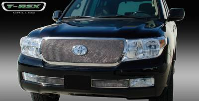 Grilles - Custom Fit Grilles - T-Rex - Toyota Land Cruiser T-Rex Upper Class Polished Stainless Mesh Grille - 54934