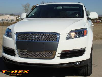Grilles - Custom Fit Grilles - T-Rex - Audi Q7 T-Rex Upper Class Polished Stainless Mesh Grille - 2PC - 54989