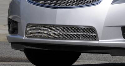 Grilles - Custom Fit Grilles - T-Rex - Chevrolet Cruze T-Rex Upper Class Polished Stainless Bumper Mesh Grille - 55125
