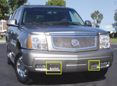 T-Rex - Cadillac Escalade T-Rex Upper Class Polished Stainless Bumper Mesh Grille - 55183