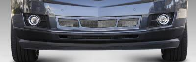 Grilles - Custom Fit Grilles - T-Rex - Cadillac SRX T-Rex Upper Class Mesh Bumper Grille - Overlay - 3 Window Design - Polished - 55187
