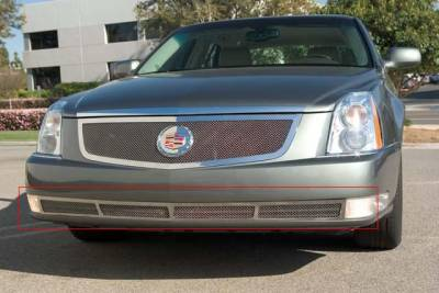 Grilles - Custom Fit Grilles - T-Rex - Cadillac DTS T-Rex Upper Class Polished Stainless Bumper Mesh Grille - 55188