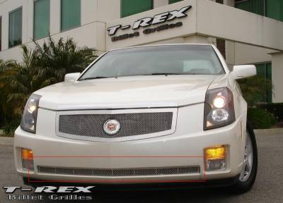 Grilles - Custom Fit Grilles - T-Rex - Cadillac CTS T-Rex Upper Class Polished Stainless Bumper Mesh Grille - 55192