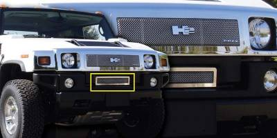 Grilles - Custom Fit Grilles - T-Rex - Hummer H2 T-Rex Upper Class Polished Stainless Bumper Mesh Grille - 55295