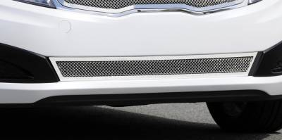 Grilles - Custom Fit Grilles - T-Rex - Kia Optima T-Rex Upper Class Polished Stainless Bumper Mesh Grille with Formed Mesh Center - 55320