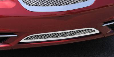 Grilles - Custom Fit Grilles - T-Rex - Chrysler 200 T-Rex Upper Class Polished Stainless Mesh Bumper Grille with Formed Mesh - 55408
