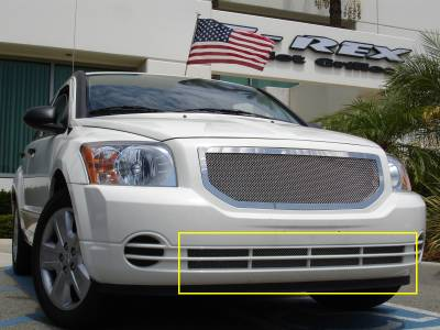 Grilles - Custom Fit Grilles - T-Rex - Dodge Caliber T-Rex Upper Class Polished Stainless Bumper Mesh Grille - 55477