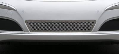 Grilles - Custom Fit Grilles - T-Rex - Hyundai Equus T-Rex Upper Class Polished Stainless Bumper Mesh Grille with Formed Mesh Center - 55496
