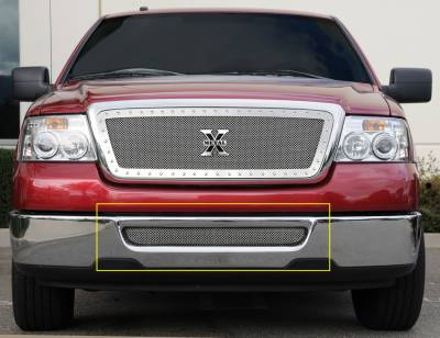 Grilles - Custom Fit Grilles - T-Rex - Lincoln Mark T-Rex Upper Class Polished Stainless Bumper Mesh Grille - 55552