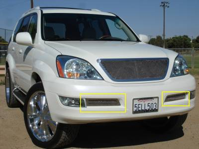 Grilles - Custom Fit Grilles - T-Rex - Lexus GX T-Rex Upper Class Polished Stainless Bumper Mesh Grille - 2PC - 55601