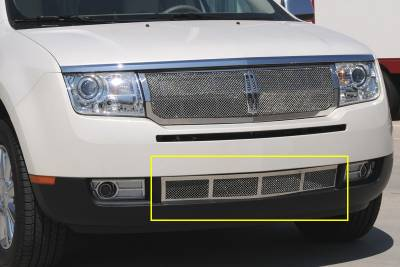 Grilles - Custom Fit Grilles - T-Rex - Lincoln MKX T-Rex Upper Class Polished Stainless Bumper Mesh Grille - 55717