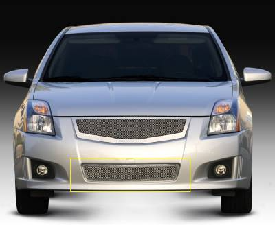 Grilles - Custom Fit Grilles - T-Rex - Nissan Sentra T-Rex Upper Class Polished Stainless Mesh Bumper Grille - 55764