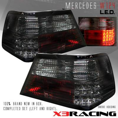Headlights & Tail Lights - Led Tail Lights - Custom - Smoke LED Taillights W124
