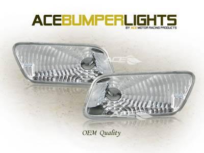 Headlights & Tail Lights - Corner Lights - Custom - Front Bumper Signal Lights W210