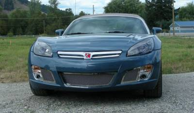 Grilles - Custom Fit Grilles - T-Rex - Saturn Sky T-Rex Upper Class Polished Stainless Bumper Mesh Grille - 2PC - 55806