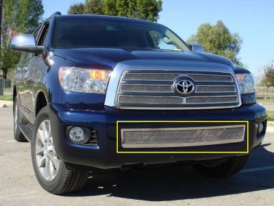 Grilles - Custom Fit Grilles - T-Rex - Toyota Sequoia T-Rex Upper Class Polished Stainless Bumper Mesh Grille - 55902