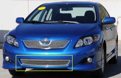 Grilles - Custom Fit Grilles - T-Rex - Toyota Corolla T-Rex Upper Class Polished Stainless Bumper Mesh Grille - 55908