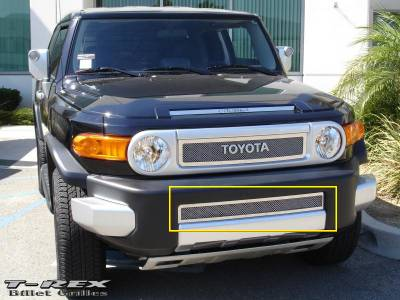 Grilles - Custom Fit Grilles - T-Rex - Toyota FJ Cruiser T-Rex Upper Class Polished Stainless Bumper Mesh Grille - 55932