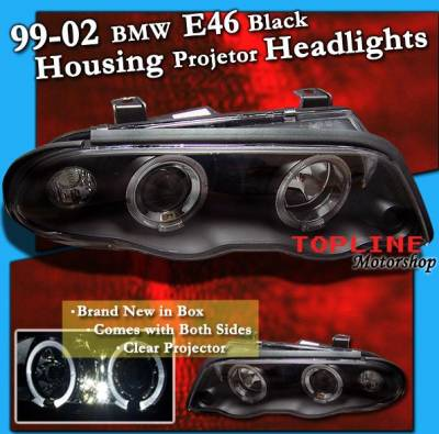 Headlights & Tail Lights - Headlights - Custom - BK Halo Projector Headlights - White