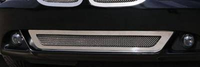 Grilles - Custom Fit Grilles - T-Rex - BMW 6 Series T-Rex Upper Class Polished Stainless Bumper Mesh Grille with Formed Mesh Center - 55997