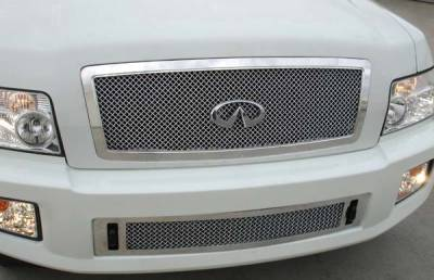 Grilles - Custom Fit Grilles - T-Rex - Infiniti QX T-Rex Hybrid Series Grille - Chrome Edition with Wire Mesh - 80791