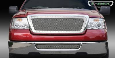 Grilles - Custom Fit Grilles - T-Rex - Lincoln Mark T-Rex X-Metal Series Studded Main Grille - Polished Stainless Steel - 6715560