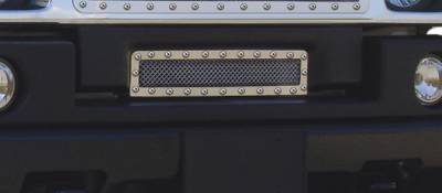 Grilles - Custom Fit Grilles - T-Rex - Hummer H2 T-Rex X-Metal Series Studded Bumper Grille - Polished Stainless Steel - 6722900