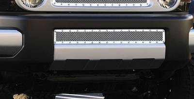 Grilles - Custom Fit Grilles - T-Rex - Toyota FJ Cruiser T-Rex X-Metal Series Studded Bumper Grille - Polished Stainless Steel - 6729320